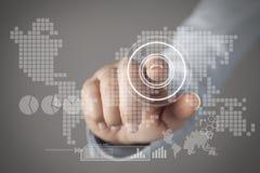 Concetto del touch screen Immagine Stock Libera da Diritti
