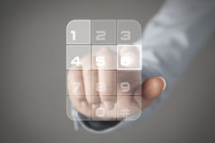 Concetto del touch screen Immagini Stock
