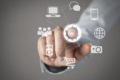 Concetto del touch screen Immagine Stock