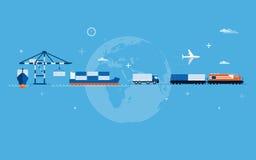 Concetto del trasporto del mondo Immagini Stock Libere da Diritti