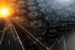 Concetto del trasporto del petrolio greggio Immagine Stock Libera da Diritti