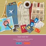 Concetto del viaggio o del francese di studio Immagini Stock Libere da Diritti