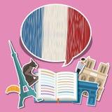 Concetto del viaggio o del francese di studio Immagini Stock