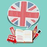 Concetto del viaggio o dell'inglese di studio Immagine Stock Libera da Diritti
