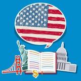 Concetto del viaggio o dell'inglese di studio Immagini Stock