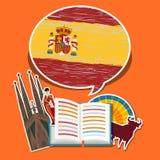 Concetto del viaggio o dello Spagnolo di studio Immagini Stock Libere da Diritti