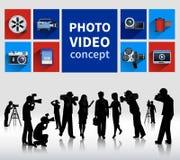 Concetto del video e della foto Fotografia Stock Libera da Diritti