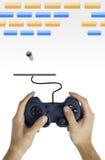 Concetto del video gioco Fotografie Stock Libere da Diritti