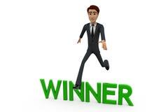 concetto del vincitore dell'uomo 3d Fotografie Stock