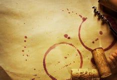 Concetto del vino Fotografie Stock Libere da Diritti