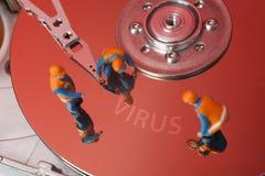 Concetto del virus di calcolatore Fotografia Stock Libera da Diritti