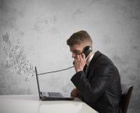 Telefono e voice over ip Immagine Stock