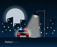 Concetto del volante della polizia Fotografie Stock Libere da Diritti