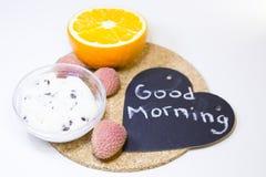 Concetto delizioso della prima colazione Immagini Stock