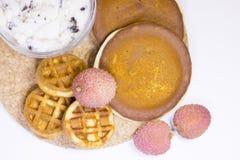 Concetto delizioso della prima colazione Immagini Stock Libere da Diritti