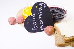 Concetto delizioso della prima colazione Fotografie Stock