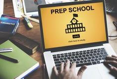 Concetto dell'accademia della preparazione di istruzione scolastica della preparazione Fotografia Stock