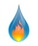 Concetto dell'acqua e del fuoco - vettore Immagine Stock
