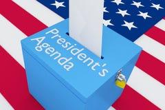 Concetto dell'Agenda di presidente illustrazione vettoriale