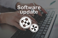 Concetto dell'aggiornamento di software immagine stock libera da diritti
