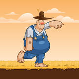Concetto dell'agricoltore di vettore, concetto del carattere Fotografia Stock