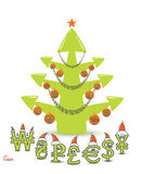 Concetto dell'albero di Natale del mercato azionario Immagini Stock Libere da Diritti