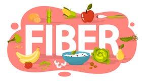 Concetto dell'alimento della fibra Idea di nutrizione sana illustrazione vettoriale