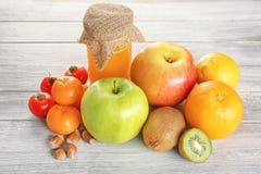 Concetto dell'alimento di allergia Alimento allergico su fondo Immagine Stock Libera da Diritti