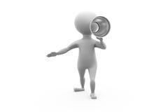 concetto dell'altoparlante dell'uomo 3d Immagine Stock