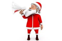concetto dell'altoparlante di Santa dell'uomo 3d Fotografie Stock