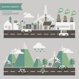 Concetto dell'ambiente di ecologia illustrazione di stock