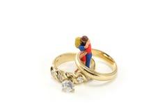 Concetto dell'anello di cerimonia nuziale Fotografia Stock