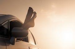 Concetto dell'annata di libertà di vacanza di viaggio immagini stock libere da diritti