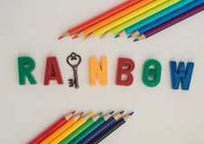 Concetto dell'arcobaleno Fotografia Stock Libera da Diritti