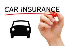 Concetto dell'assicurazione auto Fotografia Stock