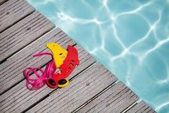 Concetto dell'attrezzatura della piscina Immagini Stock