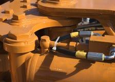 Concetto dell'attrezzatura di agricoltura Primo piano dettagliato dell'erpice di disco, macchinario agricolo Fotografia Stock
