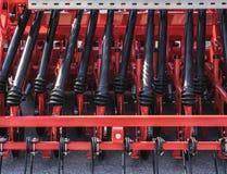 Concetto dell'attrezzatura di agricoltura Primo piano dettagliato dell'erpice di disco, macchinario agricolo Immagini Stock Libere da Diritti