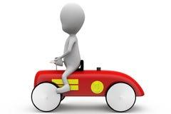 concetto dell'automobile dell'uomo 3d Fotografie Stock Libere da Diritti