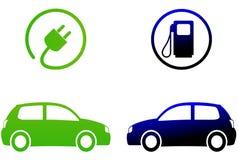 Concetto dell'automobile elettrica illustrazione di stock