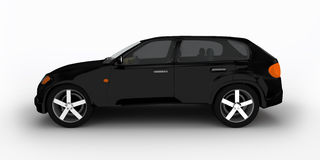 Concetto dell'automobile nera dell'incrocio Immagine Stock