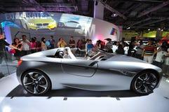 Concetto dell'automobile sportiva del two-seater di ConnectedDrive di visione di BMW su esposizione al mondo 2014 di BMW Immagini Stock Libere da Diritti