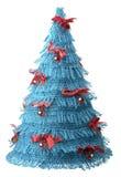 Concetto dell'azzurro dell'albero di nuovo anno di natale Immagine Stock