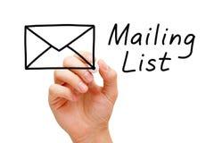 Concetto dell'elenco di indirizzi Fotografie Stock