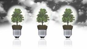 Concetto dell'energia rinnovabile, simbolo verde di energia Immagini Stock