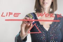 Concetto dell'equilibrio del Vita lavoro Immagini Stock Libere da Diritti