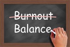 Concetto dell'equilibrio di burnout Fotografia Stock Libera da Diritti