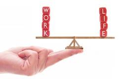 Concetto dell'equilibrio di vita del lavoro Fotografie Stock