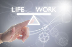 Concetto dell'equilibrio di vita del lavoro Fotografie Stock Libere da Diritti