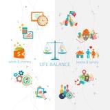 Concetto dell'equilibrio di vita e del lavoro Fotografia Stock Libera da Diritti